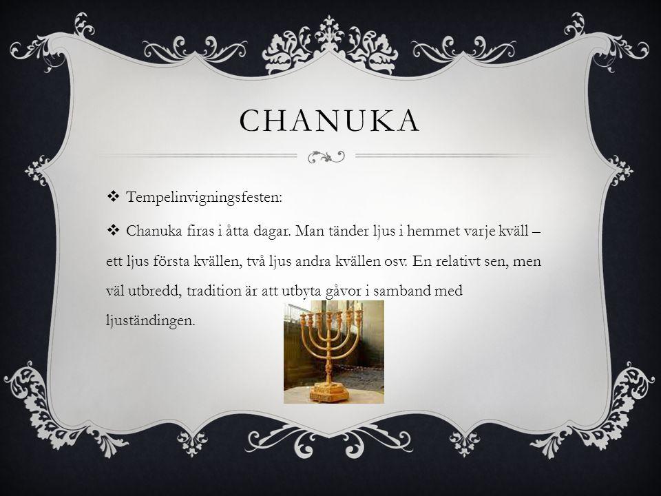 Chanuka Tempelinvigningsfesten: