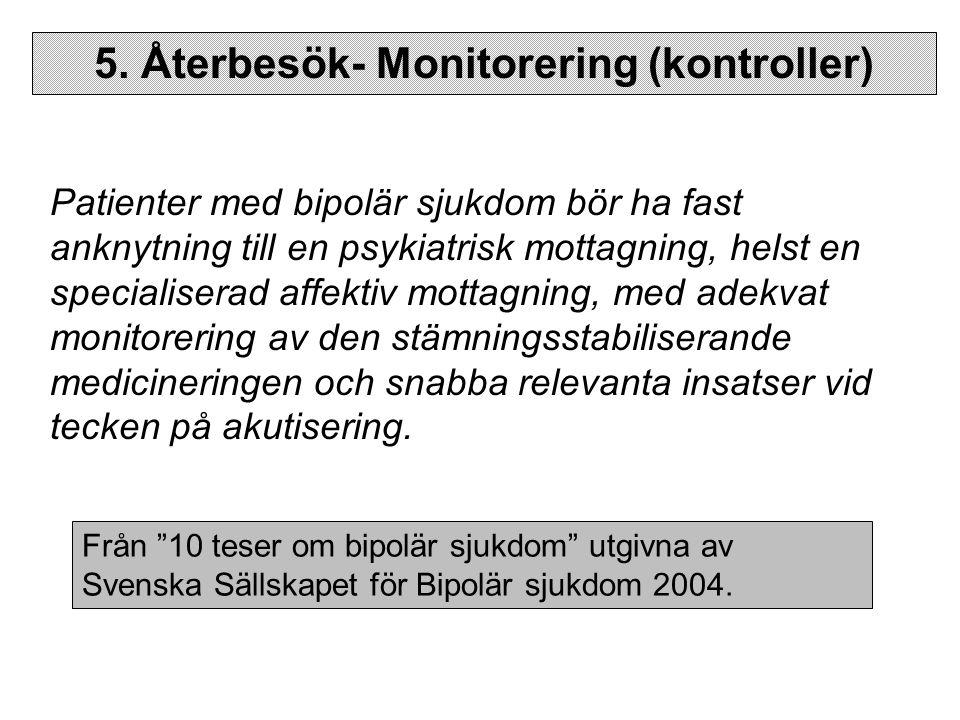 5. Återbesök- Monitorering (kontroller)