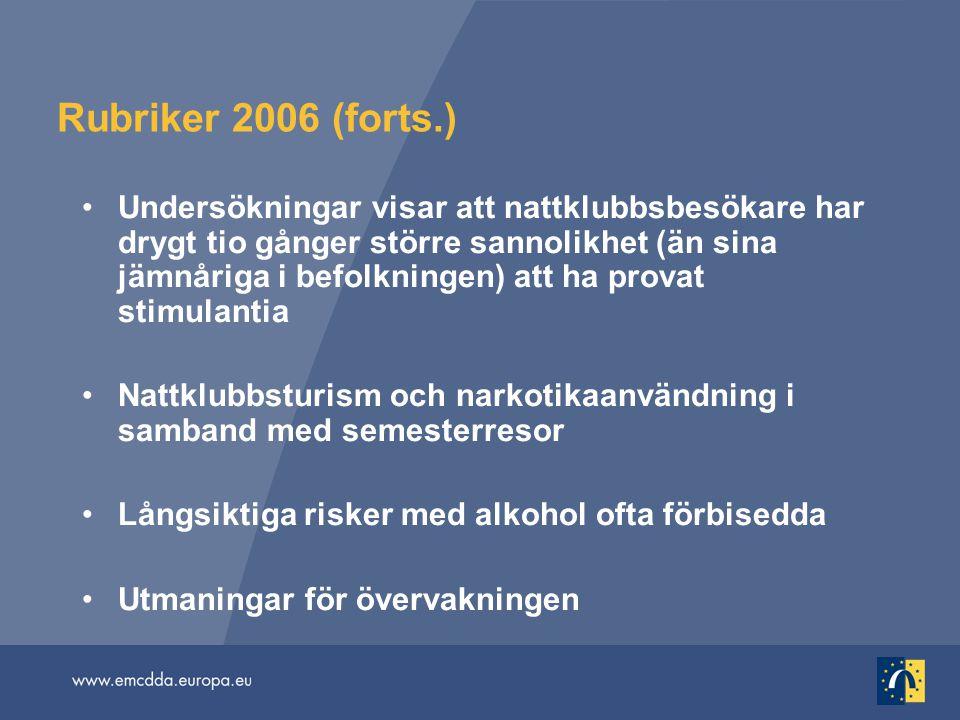Rubriker 2006 (forts.)