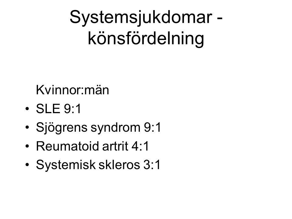 Systemsjukdomar - könsfördelning
