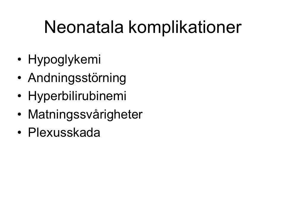 Neonatala komplikationer