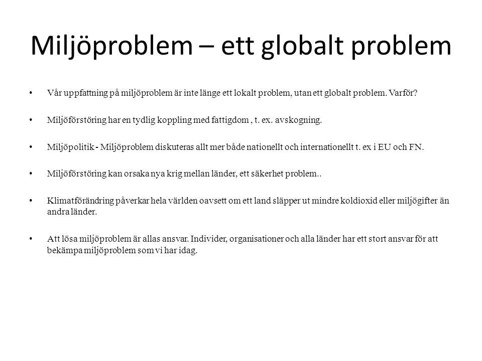 Miljöproblem – ett globalt problem