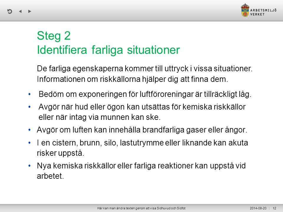 Steg 2 Identifiera farliga situationer