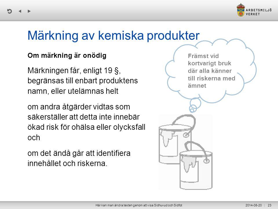 Märkning av kemiska produkter