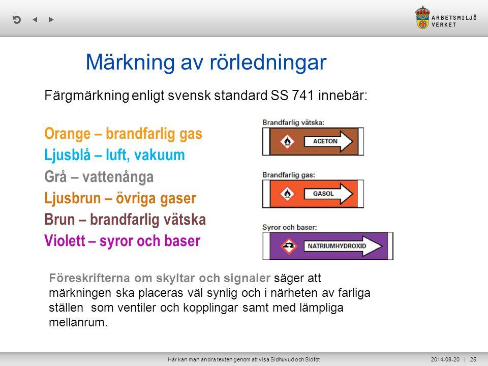 Märkning av rörledningar