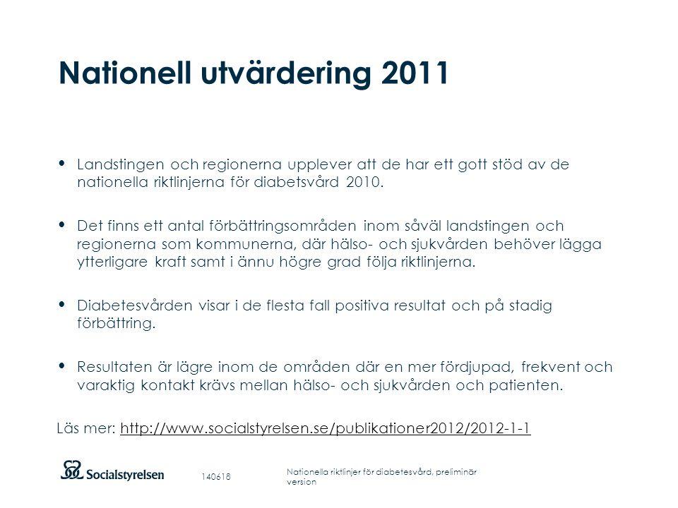 Nationell utvärdering 2011