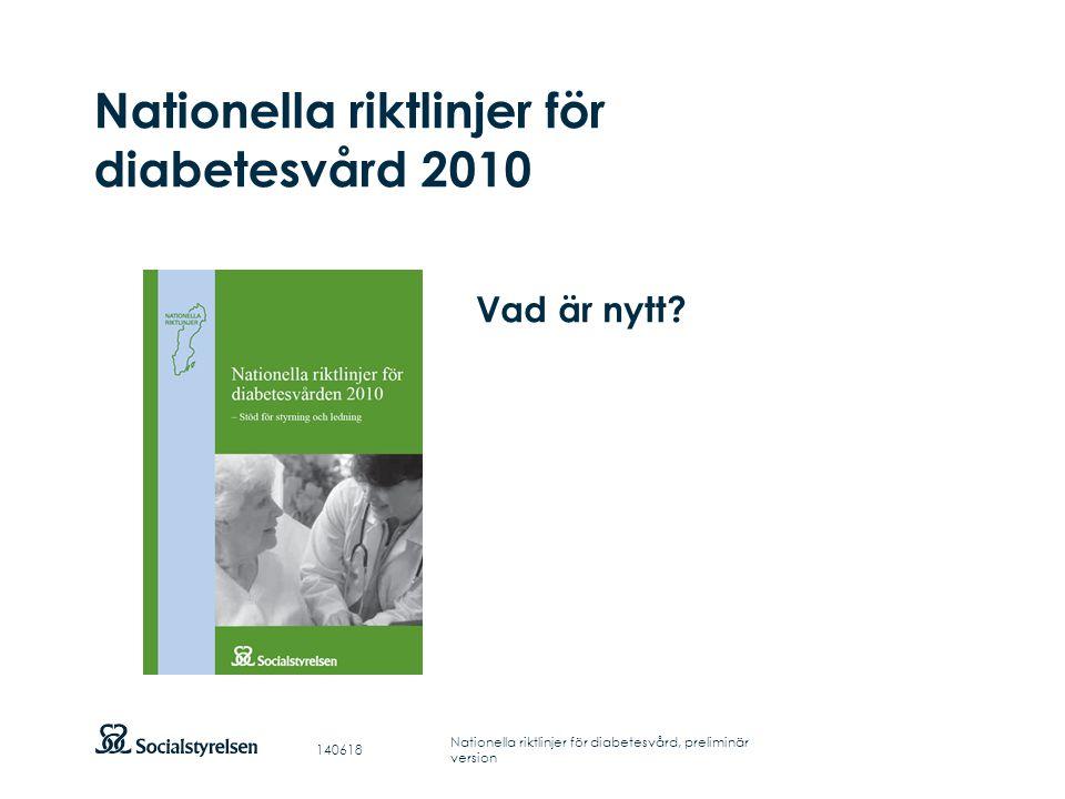 Nationella riktlinjer för diabetesvård 2010