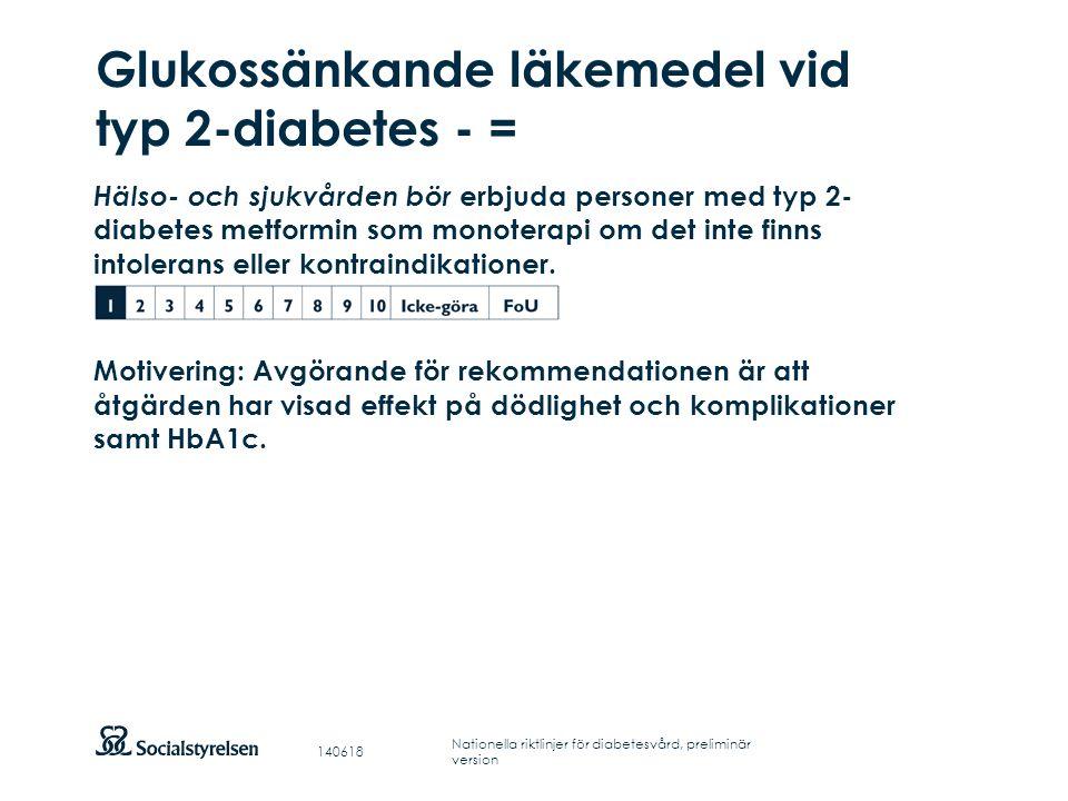 Glukossänkande läkemedel vid typ 2-diabetes - =