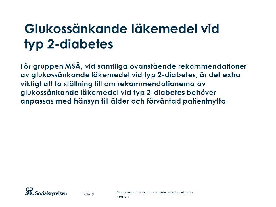 Glukossänkande läkemedel vid typ 2-diabetes