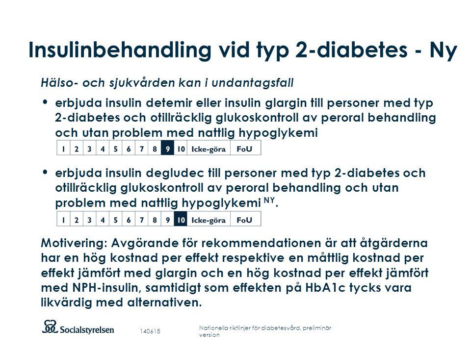 Insulinbehandling vid typ 2-diabetes - Ny