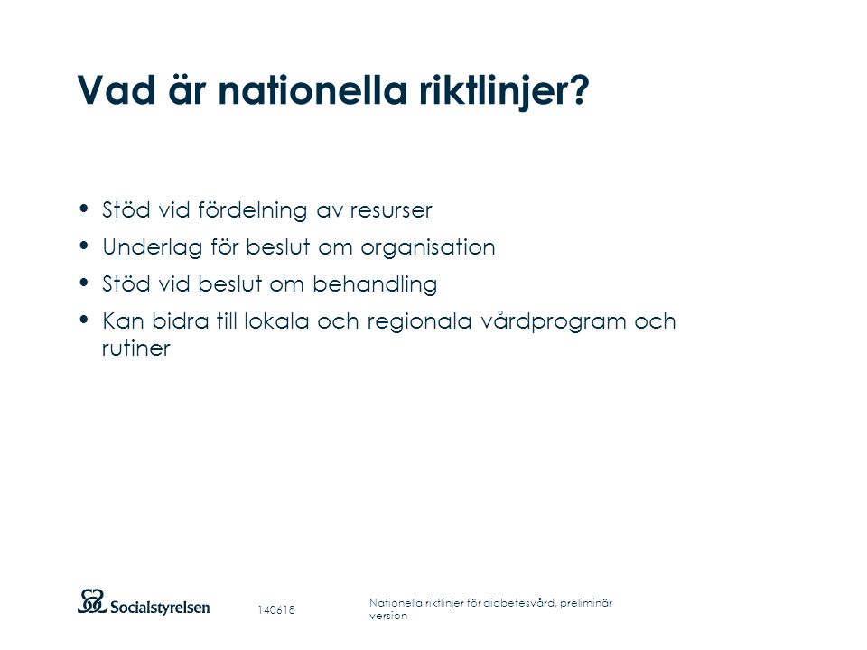 Vad är nationella riktlinjer