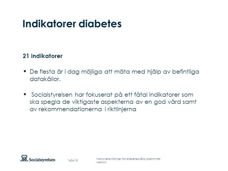 Indikatorer diabetes 21 indikatorer
