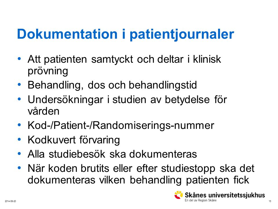 Dokumentation i patientjournaler