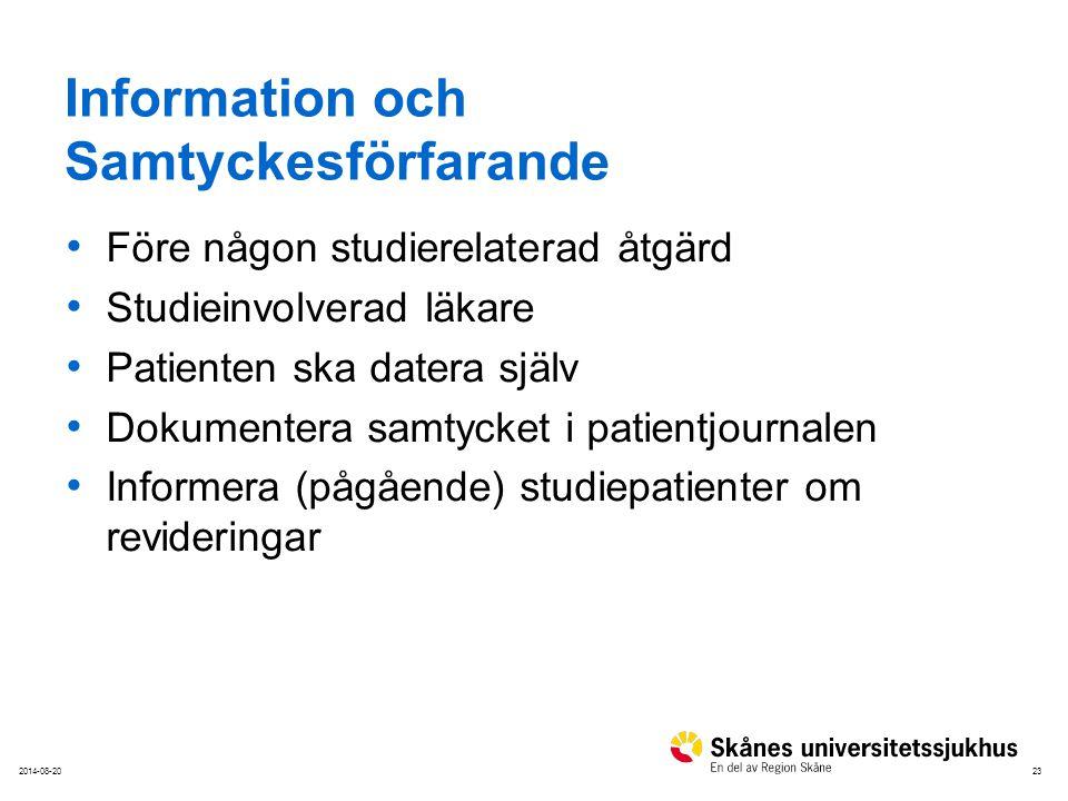 Information och Samtyckesförfarande