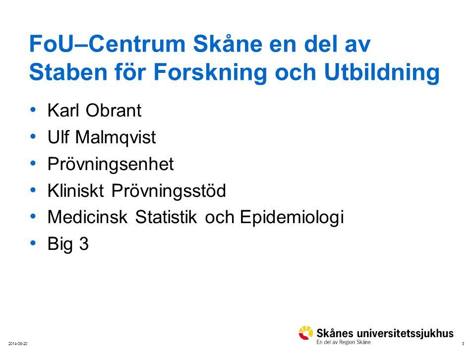 FoU–Centrum Skåne en del av Staben för Forskning och Utbildning
