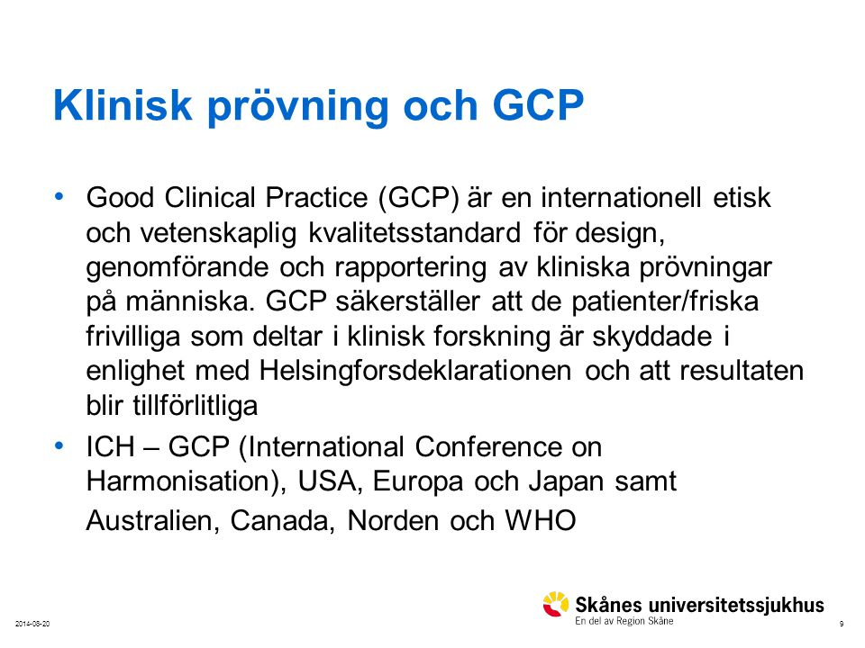 Klinisk prövning och GCP