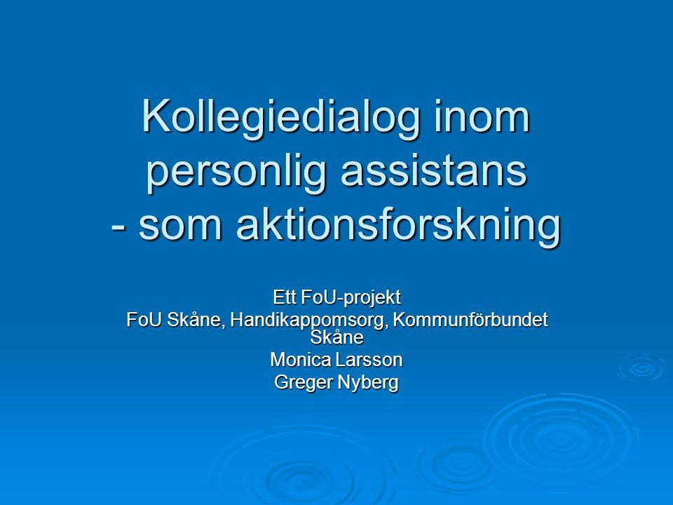 Kollegiedialog inom personlig assistans - som aktionsforskning