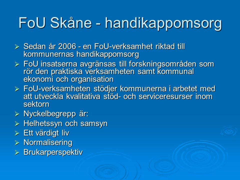FoU Skåne - handikappomsorg