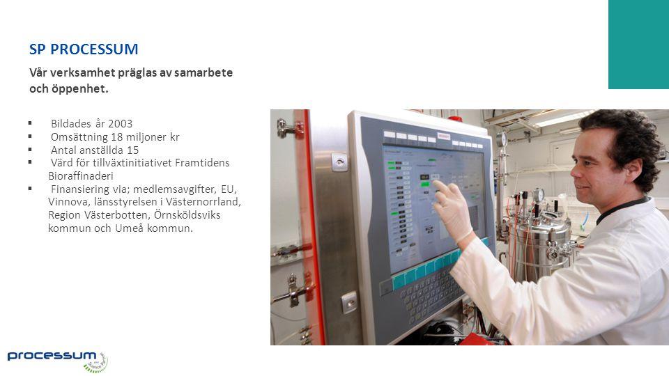 SP PROCESSUM Vår verksamhet präglas av samarbete och öppenhet.