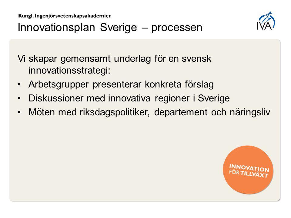 Innovationsplan Sverige – processen