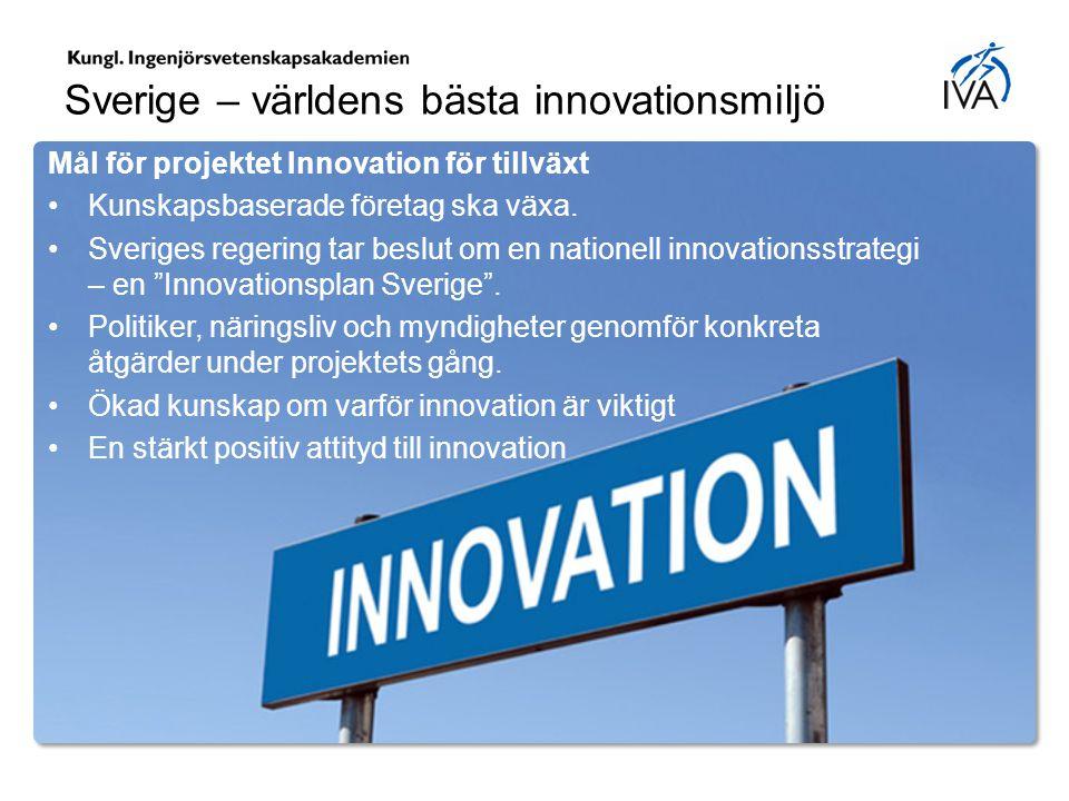 Sverige – världens bästa innovationsmiljö