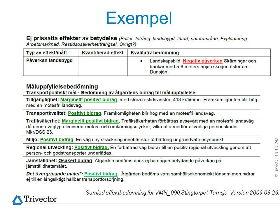 Exempel Samlad effektbedömning för VMN_090 Stingtorpet-Tärnsjö. Version 2009-08-26.