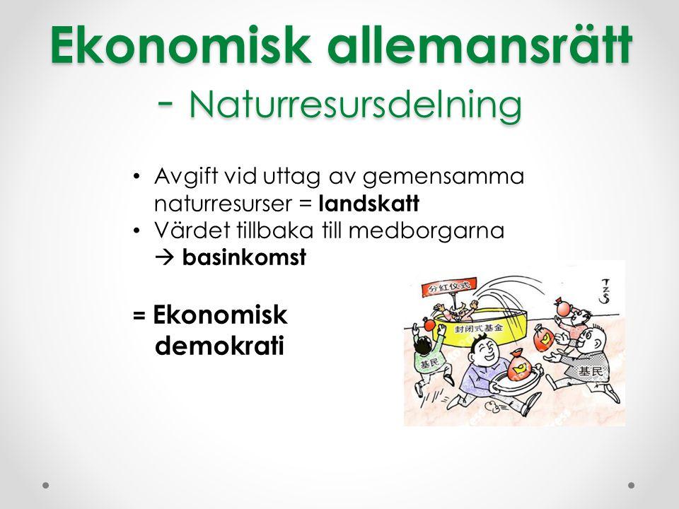 Ekonomisk allemansrätt - Naturresursdelning