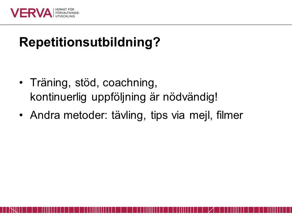Repetitionsutbildning
