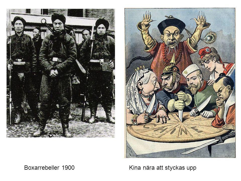 Boxarrebeller 1900 Kina nära att styckas upp