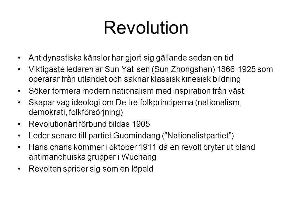 Revolution Antidynastiska känslor har gjort sig gällande sedan en tid