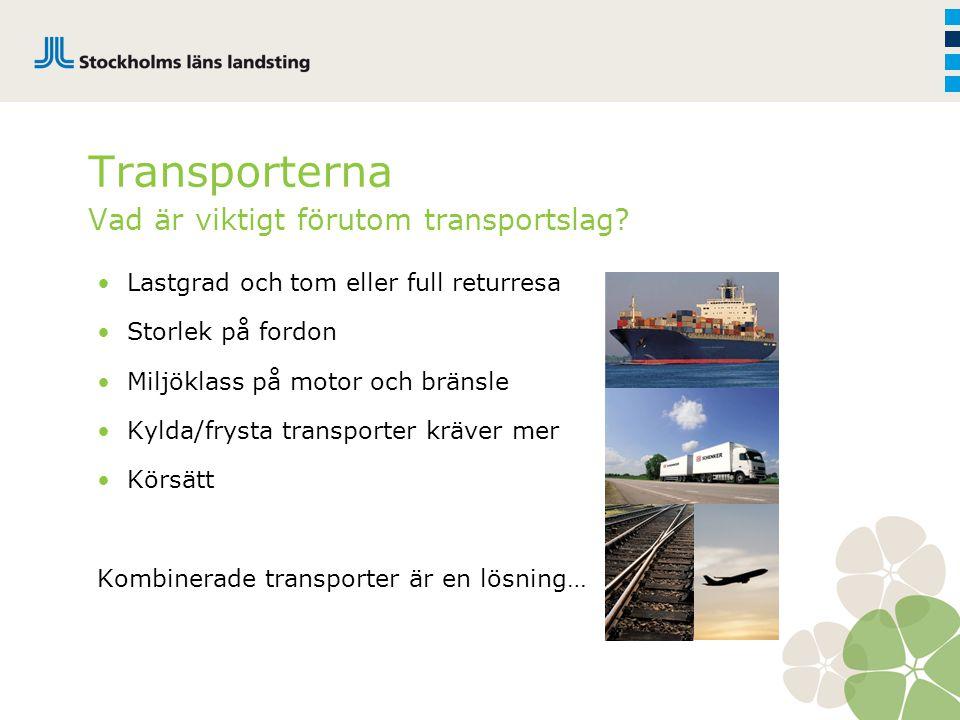 Transporterna Vad är viktigt förutom transportslag