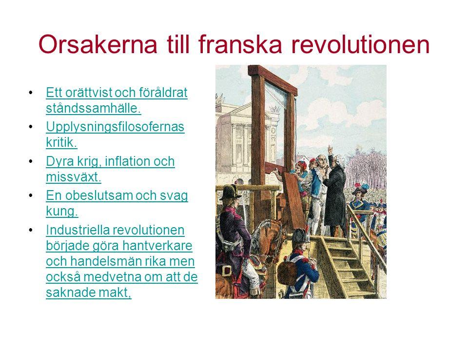 Orsakerna till franska revolutionen