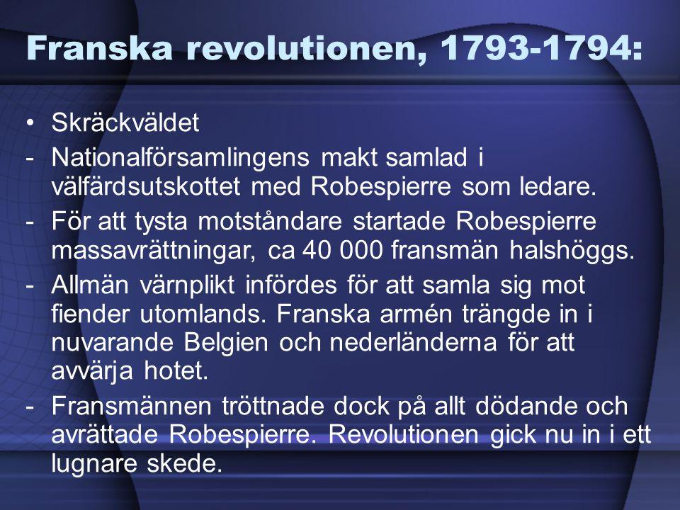 Franska revolutionen, 1793-1794: