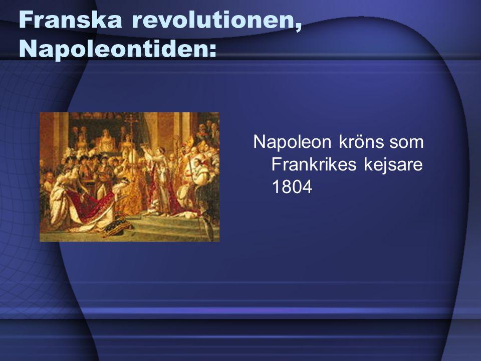 Franska revolutionen, Napoleontiden: