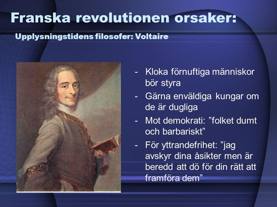 Franska revolutionen orsaker: Upplysningstidens filosofer: Voltaire