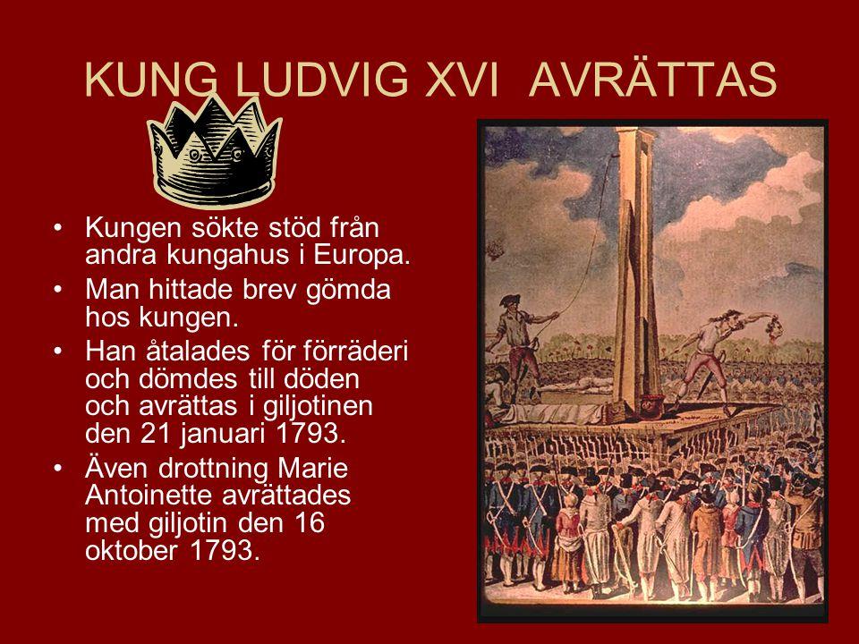 KUNG LUDVIG XVI AVRÄTTAS