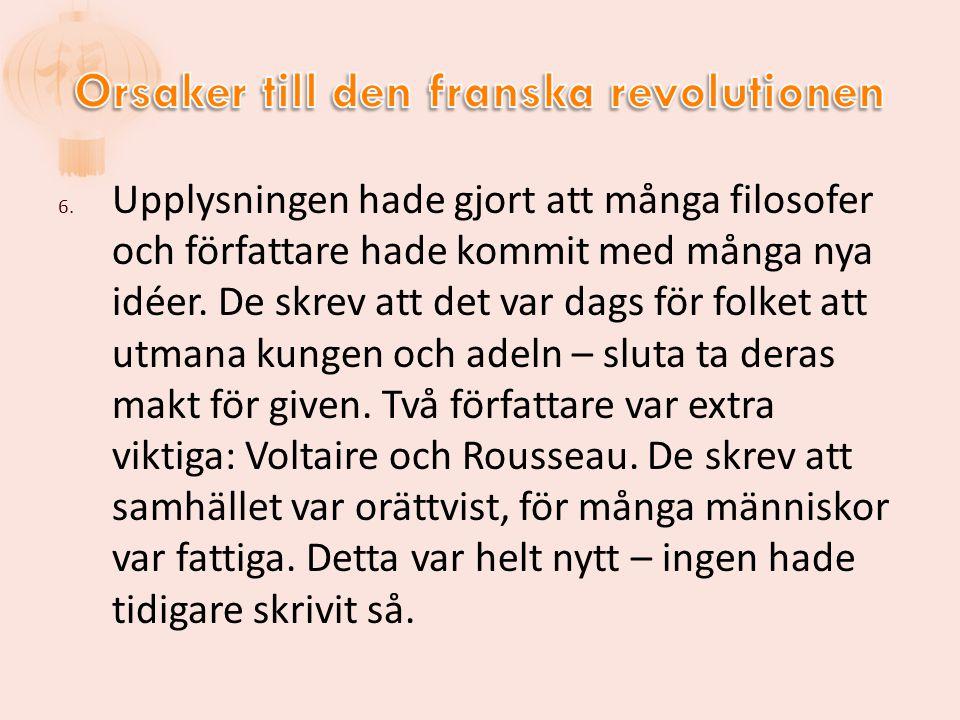 Orsaker till den franska revolutionen