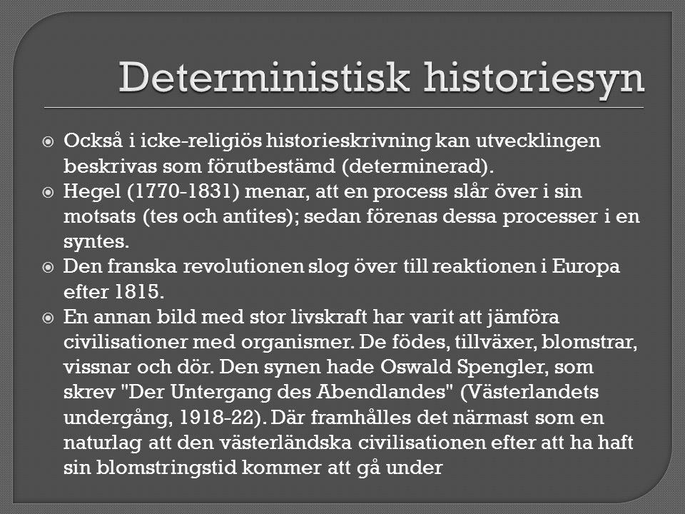 Deterministisk historiesyn