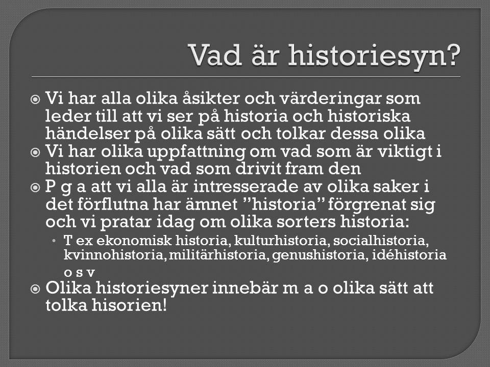 Vad är historiesyn