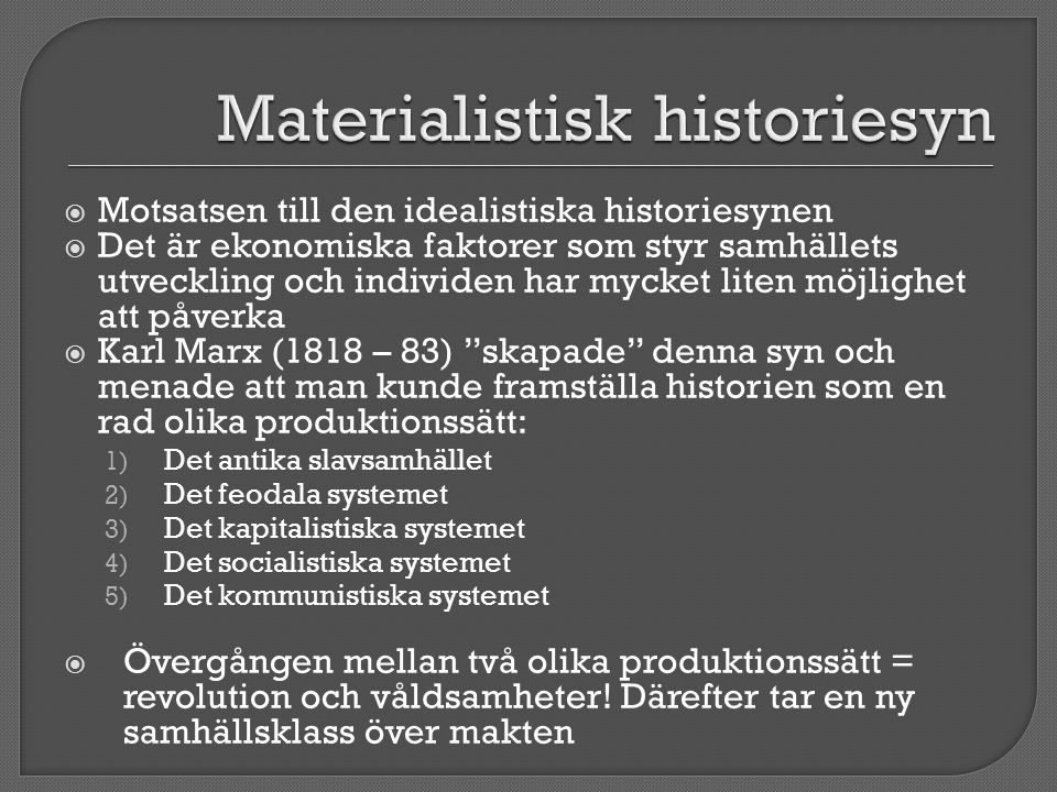 Materialistisk historiesyn