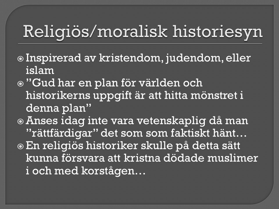 Religiös/moralisk historiesyn