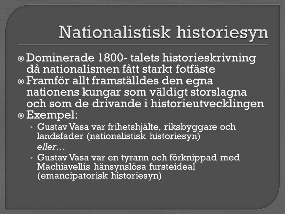 Nationalistisk historiesyn