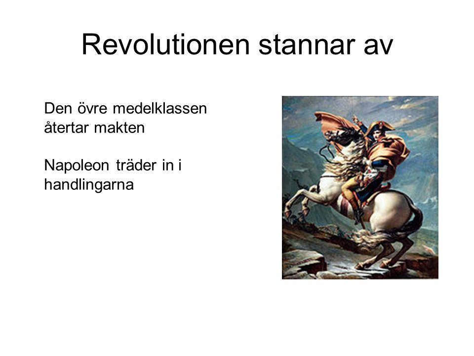 Revolutionen stannar av