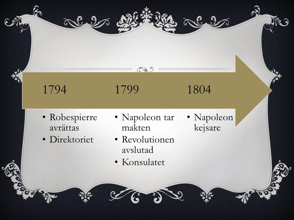 1804 1799 1794 Napoleon kejsare Napoleon tar makten