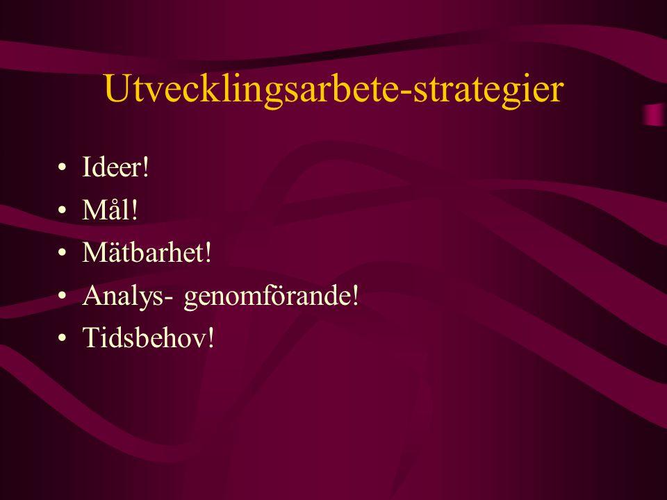 Utvecklingsarbete-strategier