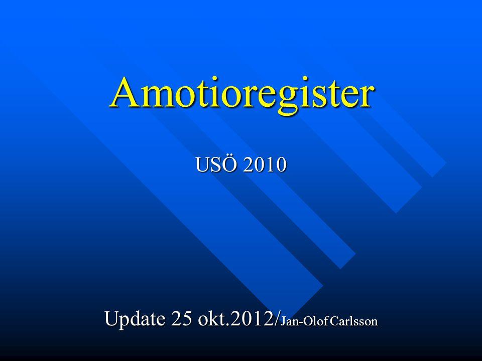 USÖ 2010 Update 25 okt.2012/Jan-Olof Carlsson