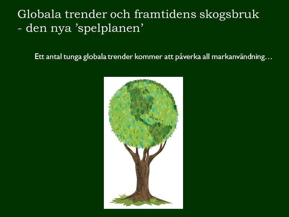 Globala trender och framtidens skogsbruk - den nya 'spelplanen'