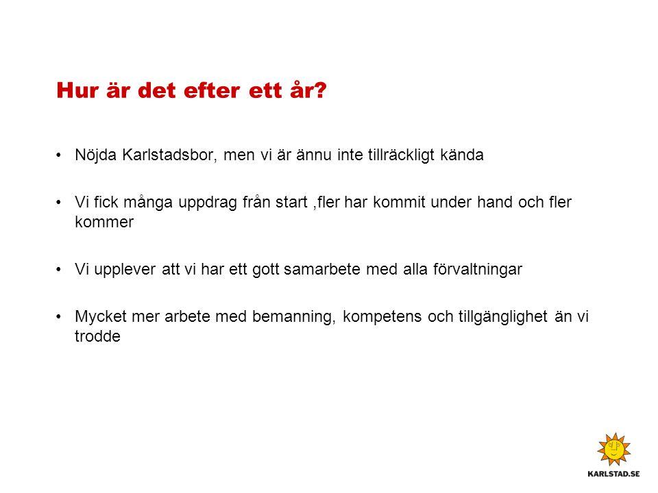 Hur är det efter ett år Nöjda Karlstadsbor, men vi är ännu inte tillräckligt kända.