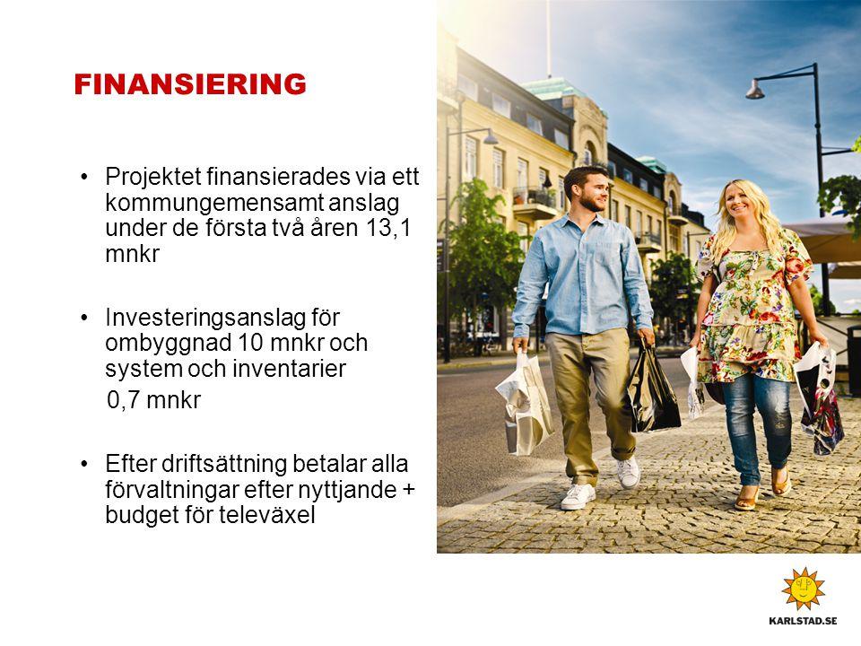 FINANSIERING Projektet finansierades via ett kommungemensamt anslag under de första två åren 13,1 mnkr.