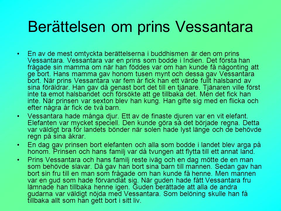Berättelsen om prins Vessantara
